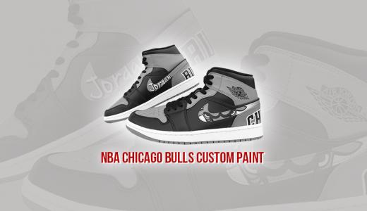 スニーカーカスタムペイント NBA BULLS Air Jordan 1 BRED