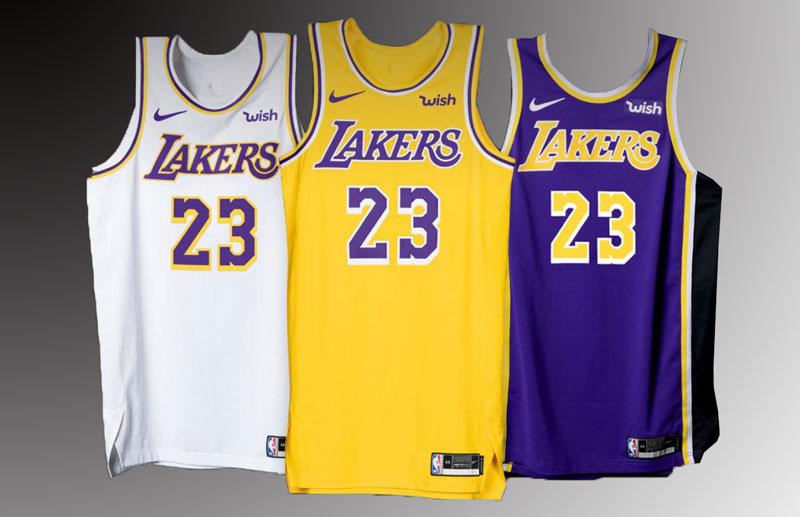 Lakers レイカーズ ゲームジャージ