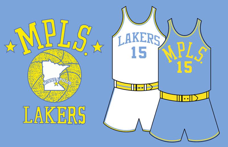 Lakers レイカーズ ミネアポリス ロゴ ジャージ
